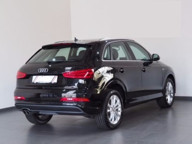 audi q3 2 0 tdi quattro 177 s line diesel occasion de couleur noir metallise en vente chez le. Black Bedroom Furniture Sets. Home Design Ideas