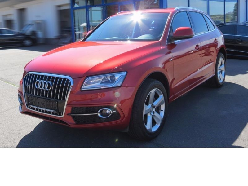 audi q5 2 0 tfsi 179 cv quattro s line essence occasion de couleur rouge m talis e en vente. Black Bedroom Furniture Sets. Home Design Ideas