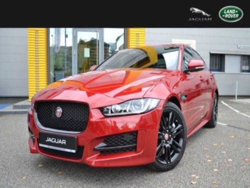 jaguar xe 2 0 200 r sport essence occasion de couleur rouge mtallis en vente chez le. Black Bedroom Furniture Sets. Home Design Ideas