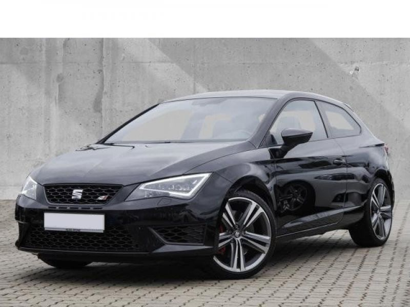 seat leon cupra 2 0 tsi 280 essence occasion de couleur noir metallis e en vente chez le. Black Bedroom Furniture Sets. Home Design Ideas